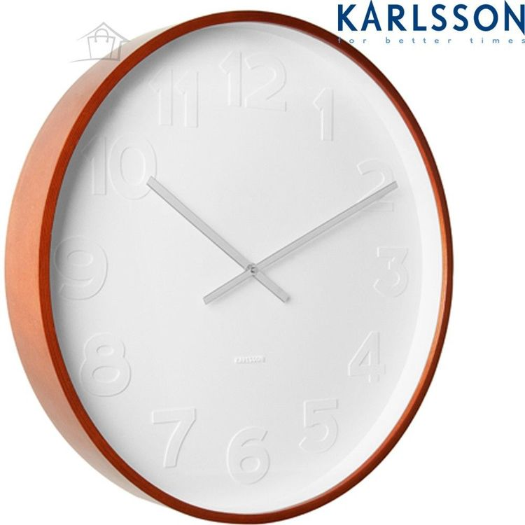 New Large Karlsson Wall Clock Mr White Numbers 51cm