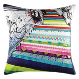 KAS Staircase Square Cushion Multi-coloured