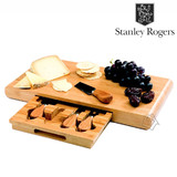 Stanley Rogers Cheese Board Set Bamboo 5 piece