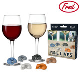 Fred Wine Lives - Kitty Wine Drink Markers