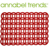 Annabel Trends Red Felt Placemats - Set of 4