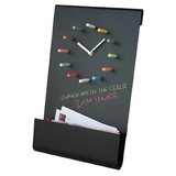 Chalk Board Wall Clock / Organiser