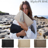 Mighty Purse Geo Clutch - Leather