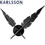 Karlsson Wall Clock Feathers - Black