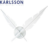 Karlsson Wall Clock Feathers - White