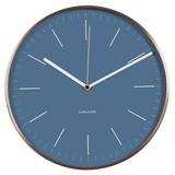 Karlsson Wall Clock Watch Blue with Copper Case 27 cm