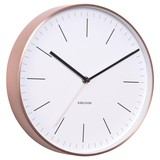 Karlsson Wall Clock Watch- White with Copper Case