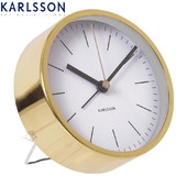 Karlsson Alarm Clock Watch - White with Gold Case