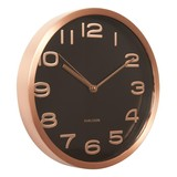 Karlsson Wall Clock Maxie - Black With Copper Numbers