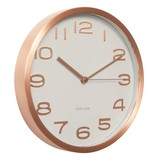 Karlsson Wall Clock Maxie - White With Copper Numbers