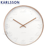 Karlsson Wall Clock Mr White Numbers Copper 37.5 cm