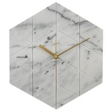 Karlsson Wall Clock Marble Hexagon