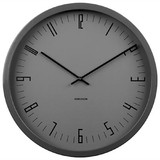 Karlsson Cased Index Wall Clock - Steel Black