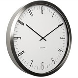 Karlsson Cased Index Wall Clock - Steel White