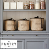 Pantry 3 pc Natural Hessian Vegetable Sack Set
