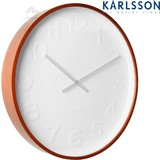 "Karlsson Large ""Mr White Numbers"" clock Wooden"