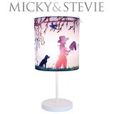 Micky & Stevie Cowboy Print Table Lamp