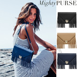 Mighty Purse Tassel Wallet Bag Vegan Leather