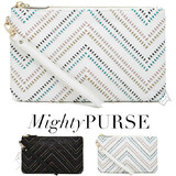 Mighty Purse Tribal Leather Wristlet Chevron
