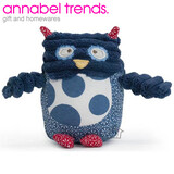 Annabel Trends Musical Pillow Pal - Blue Navy Polka Dot Owl