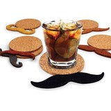 Mustache Drink Coasters