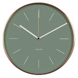 Karlsson Wall Clock Watch - Green with copper case