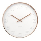 Karlsson Wall Clock Mr White Numbers Copper - Large 51cm