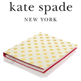 Kate Spade Concealed Spiral Notebook Gold Dots