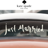 Kate Spade Bridal Decal Car Stickers- Just Married