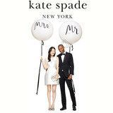 Kate Spade Bridal Balloons Mr. and Mrs.