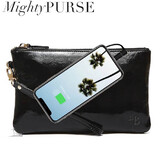 Mighty Purse Wristlet Patent Leather - Glossy Black