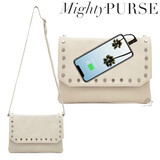 Mighty Purse Flap X-Body Bag Vegan Leather - Cream