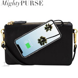 Mighty Purse Trio Bag - Leather - Black