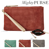 Mighty Purse Suede Wristlet
