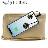 Mighty Purse Spark Wristlet - Vegan Leather - Gold