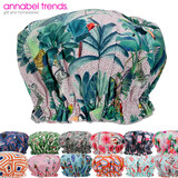 Annabel Trends Fabric Shower Caps - Printed Designs