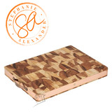 Stephanie Alexander Wooden Chopping Board w Brass Handles - Large