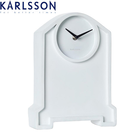 Karlsson Mantel Clock Past Two White